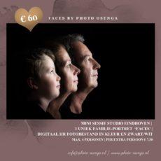 Bijzonder familieportret  'Faces'